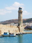 Sea lighthouse at Rethymno city in Greece