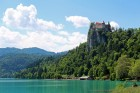Historic castle Bled at Bled lake, Slovenia